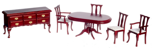 Mahogany Dining Room Set - 6pc