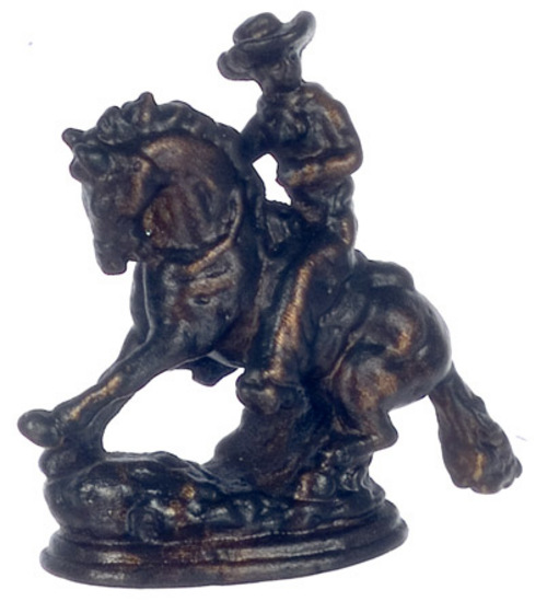 Brass Rodeo Bowing Horse Figurine