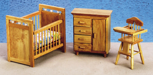 Nursery Furniture Set - Oak - 3pc