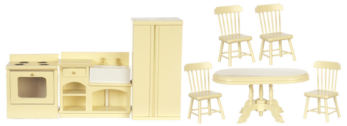 Cream Kitchen Set 8pc