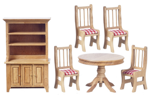Dining Room Set - 6pc - Oak