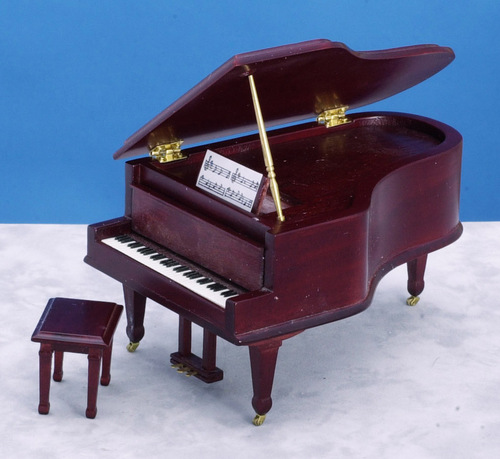 Grand Piano w/ Bench - Mahogany