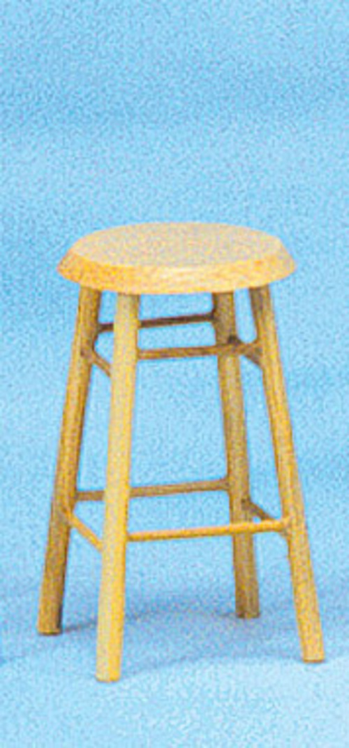 "Oak Bar Stool 2"" Tall"
