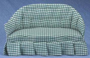 Green Checked Sofa