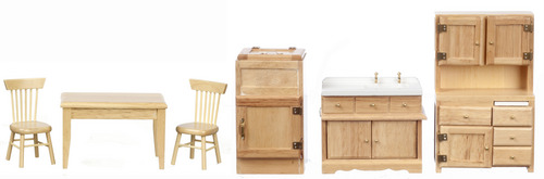 Kitchen Set - Oak - 6pc