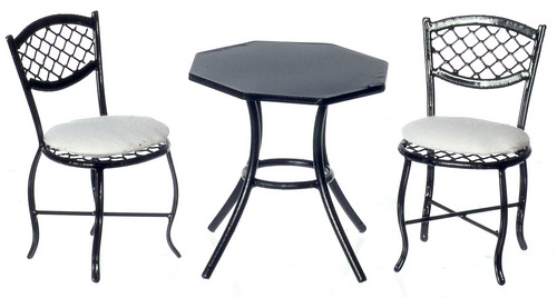 Black Table & Chair Set 3pc