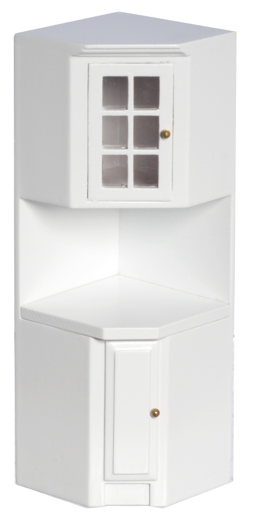 White Kitchen Corner Cabinet