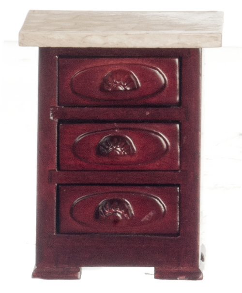 3 Drawer Nightstand - Mahogany