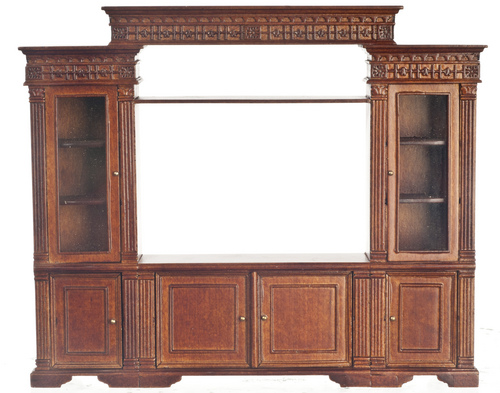 Entertainment Center for Large TV - Walnut