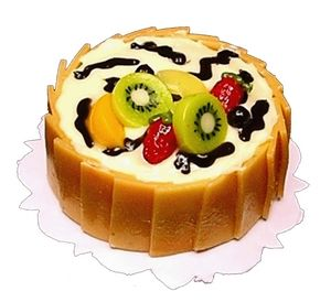 Fruit Topped Butter Cream Cake