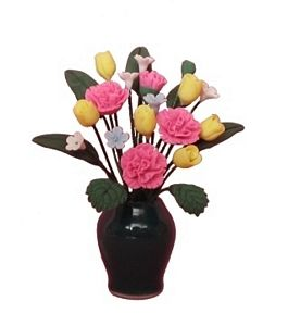 Assorted Pink Carnations with Vase