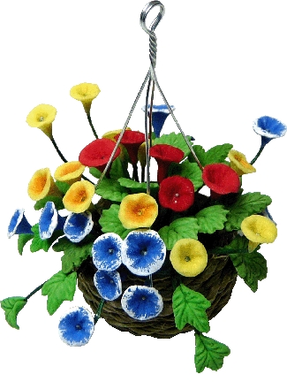 Assorted Flowers in Hanging Basket