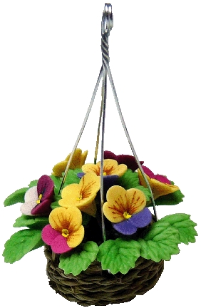 Pansies in Hanging Basket