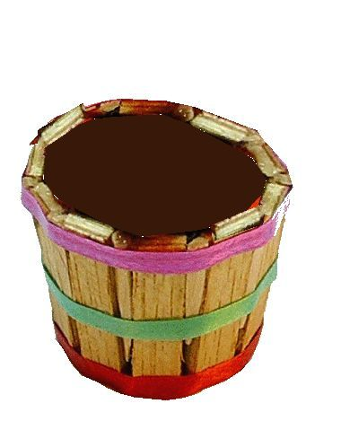 Colorful Bushel Basket