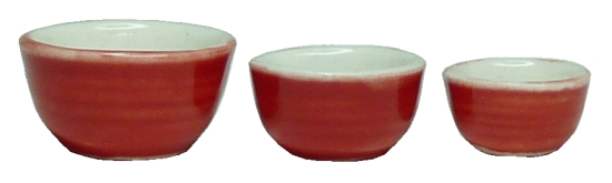 Rose Ceramic Bowl Set 3pc