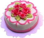 Rose Trimmed White Cake