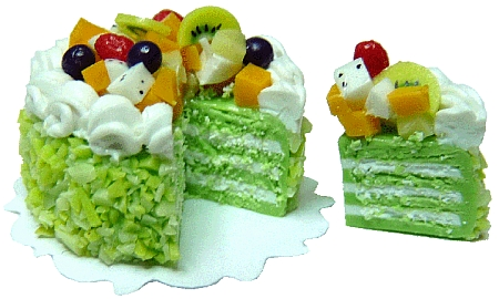 Fruit Topped Sliced Cake