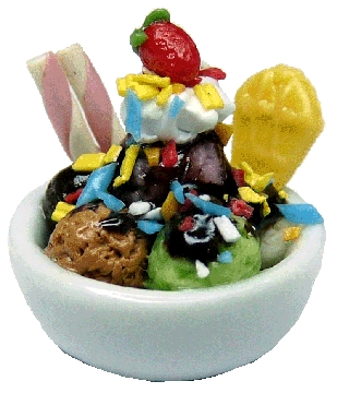 Chocolate Sundae in Small Bowl