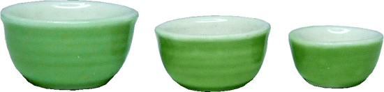 Avocado Green Bowl Set 3pc