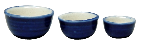 Royal Blue Ceramic Bowl Set 3pc