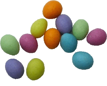 Colored Easter Eggs 12pc