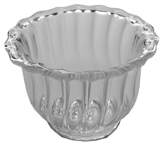 Glass Flared Ribbed Bowl