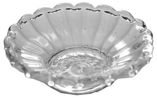 Glass Flared Ribbed Platter