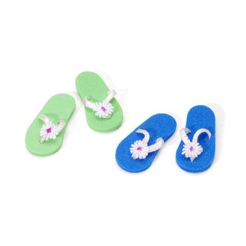 Womens Flip Flops 1pr Assorted Blue Green Mary S Dollhouse