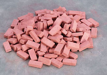 Common Red Brick 54 Sq Inches - 325pc