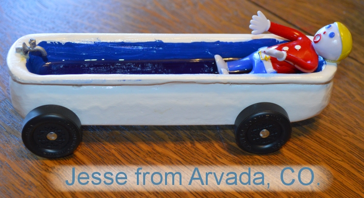 Soap Box Derby Car 2013 Jesse from Arvada, CO. Cub Scout Pack 52