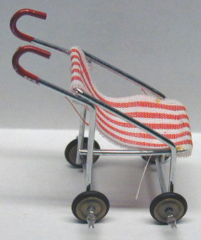 Red & White Striped Stroller