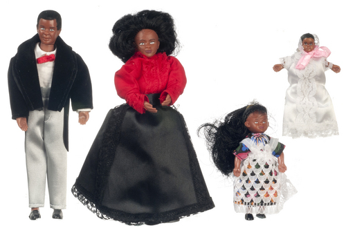 Victorian Black Family 4pc