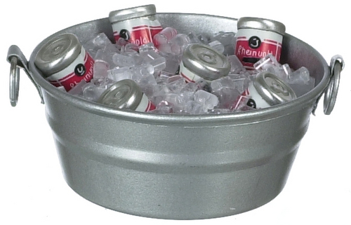 Tub w/ Ice & Canned Drinks