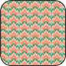 Cotton Fabric -Bargello Peach