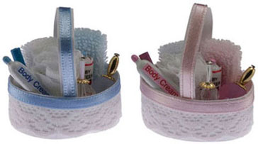 Bath Accessory Basket Pink/Blue