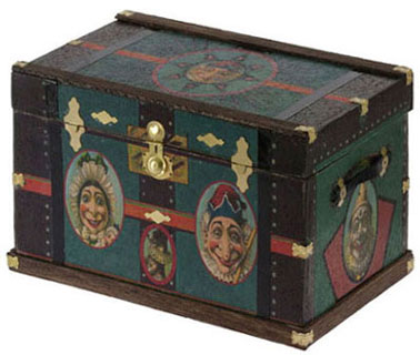 Lithograph Wooden Trunk Kit Punch & Judy