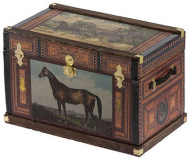 Lithograph Wooden Trunk Kit - Vintage Horse