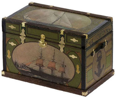 Lithograph Wooden Trunk Kit - Nautical