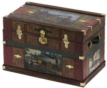 Lithograph Wooden Trunk Kit - Steam Train