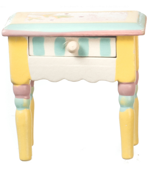 Hand Painted Pastel Nightstand