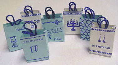 Judaic Shopping Bags, Set of 7