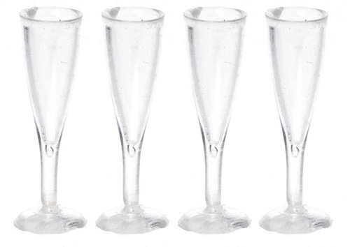 4 Fluted Champagne Glass