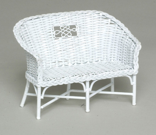 White Rattan Couch