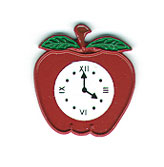 Clock Red Apple for Wall