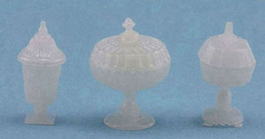 3 Milk Glass Candy Dishes