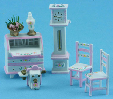 1/4in Scale Den Set  White and Pink