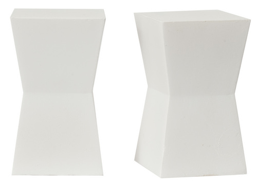 2 White Block Tables