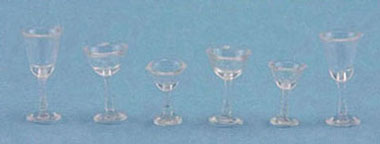 6pc Clear Stemware Set