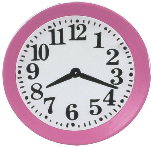Pink Kitchen Clock