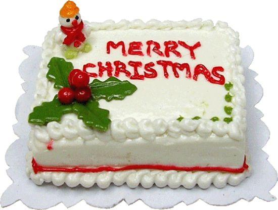 Merry Christmas Cake Images : Merry Christmas Sheet Cake Mary s Dollhouse Miniature ...